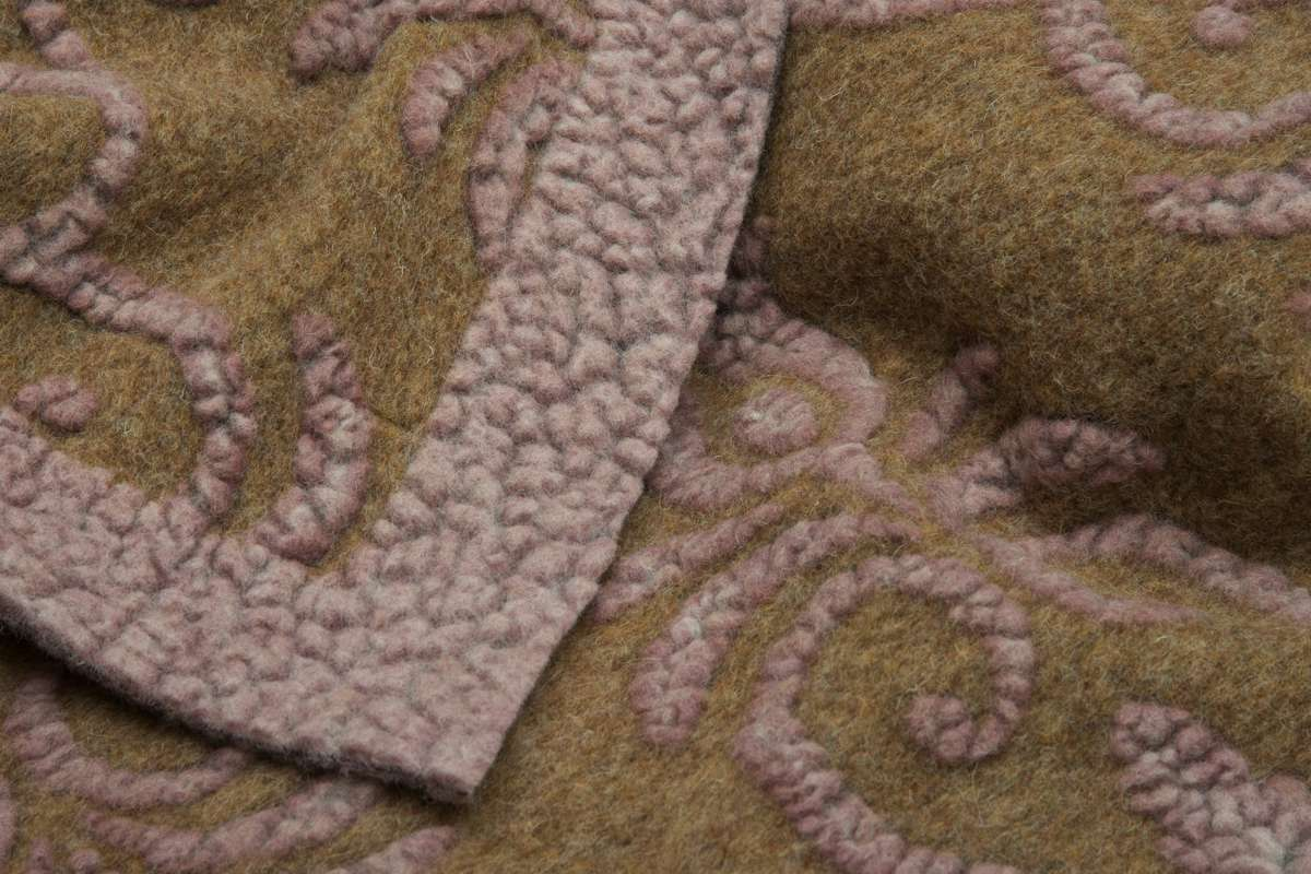 COPERTA DECOR IN LANA COTTA 150X190